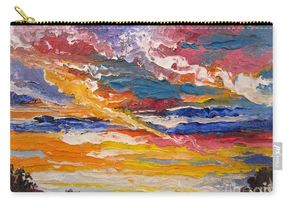 Sky In The Morning.             Sailor Take Warning  Carry-all Pouch
