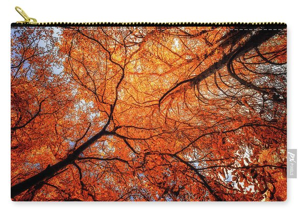 Sky Roots In Forest Red Carry-all Pouch