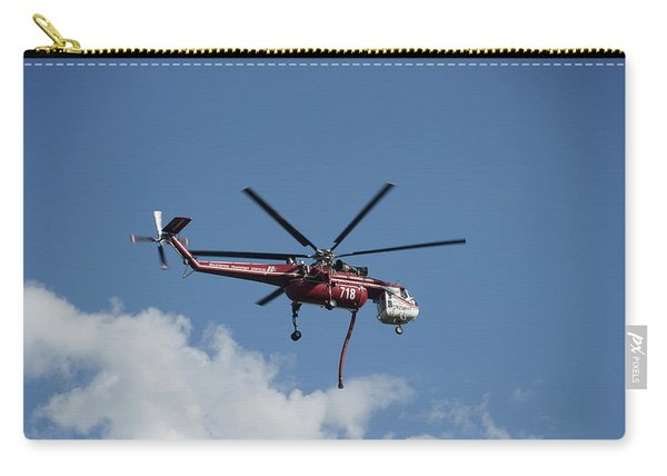Carry-all Pouch featuring the photograph Skycrane Works The Red Canyon Fire by Bill Gabbert