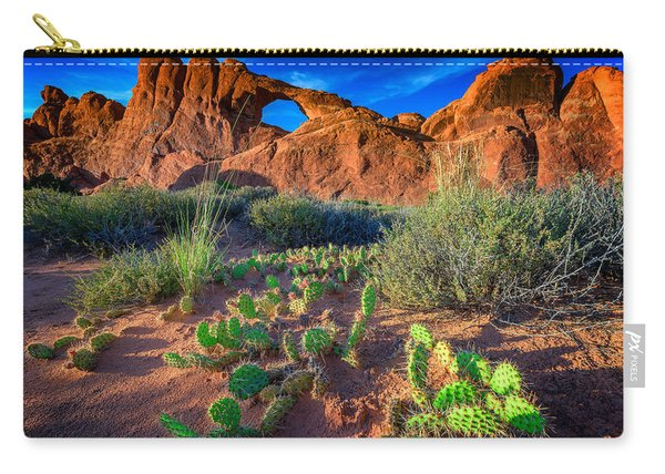 Skyline Arch In Late Day Sun Carry-all Pouch