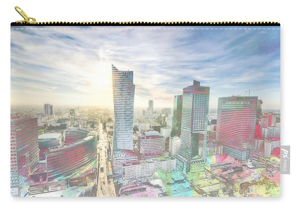 Skyline Of Warsaw Poland Carry-all Pouch