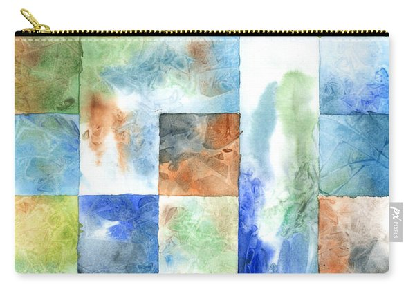 Slated Watercolor Carry-all Pouch