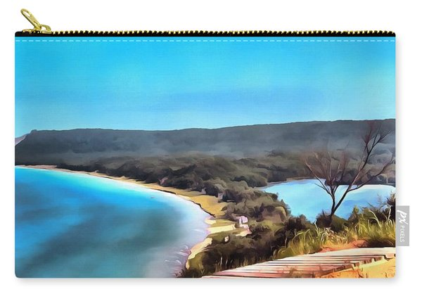 Sleeping Bear Dunes Panorama Painting Carry-all Pouch