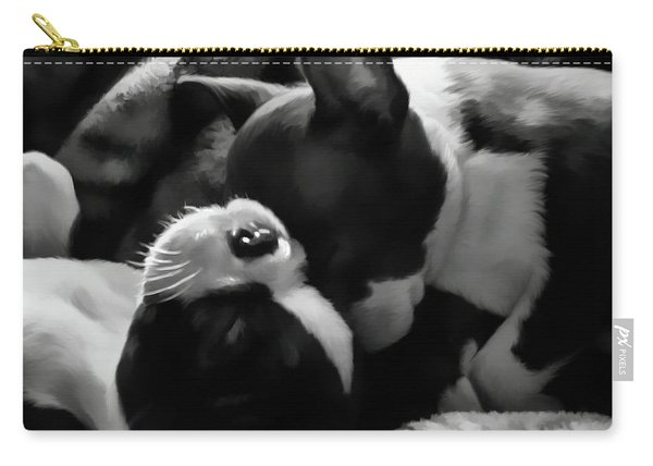 Sleeping Beauties - Boston Terriers Carry-all Pouch