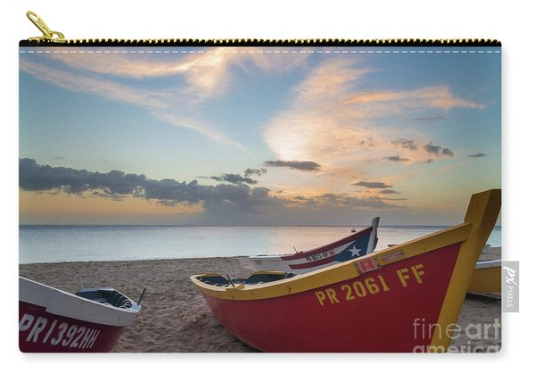Sleeping Boats On The Beach Carry-all Pouch