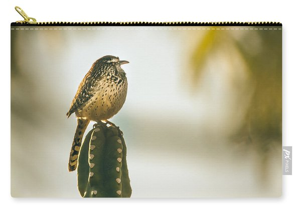 Sleeping Cactus Wren Carry-all Pouch