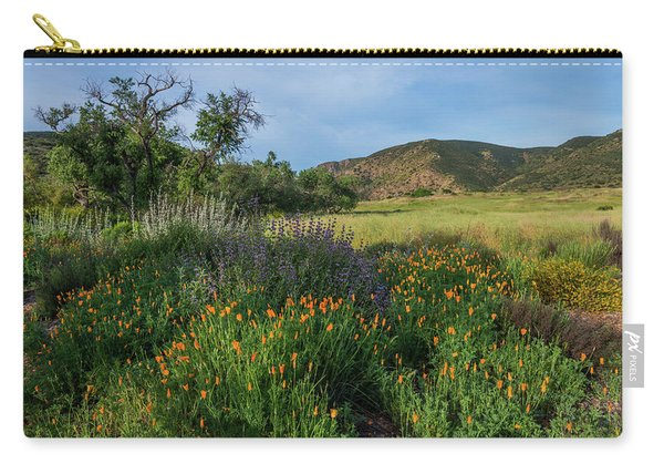 Sleeping Poppies, Mission Trails Carry-all Pouch
