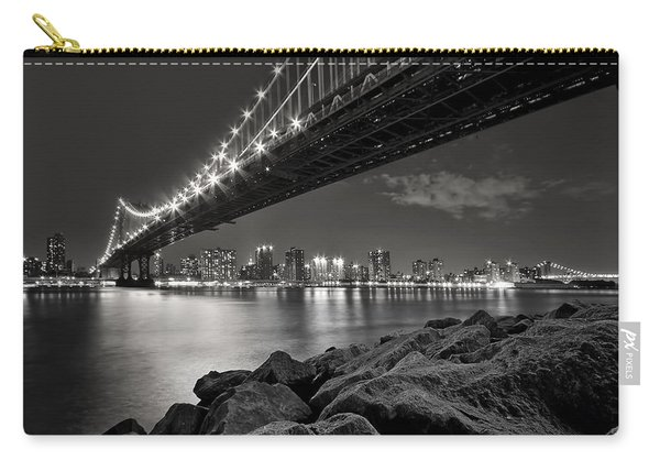 Sleepless Nights And City Lights Carry-all Pouch