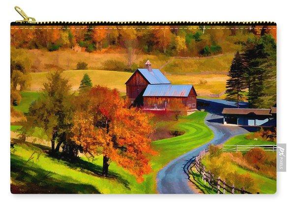 Digital Painting Of Sleepy Hollow Farm Carry-all Pouch