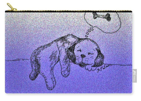 Sleepy Puppy Dreams Carry-all Pouch