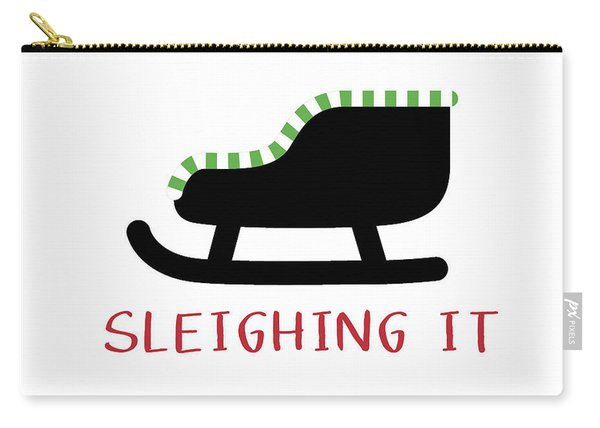 Sleighing It- Art By Linda Woods Carry-all Pouch