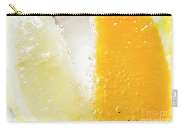Slice Of Orange And Lemon In Cocktail Glass Carry-all Pouch
