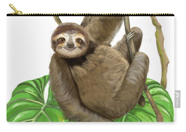 Hanging Three Toe Sloth  Carry-all Pouch