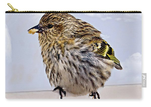 Small Bird Eating Seed Carry-all Pouch