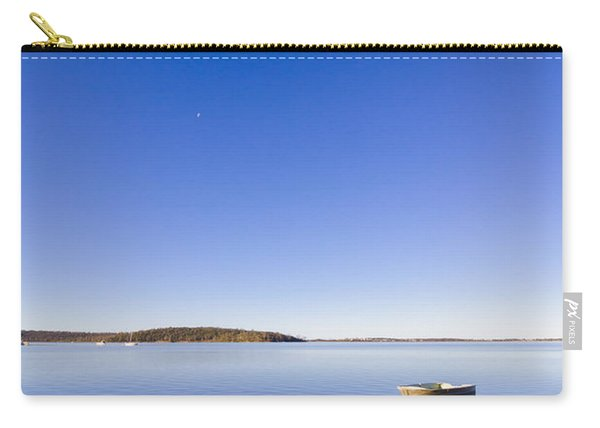 Small Boat Anchored Out To Sea Carry-all Pouch