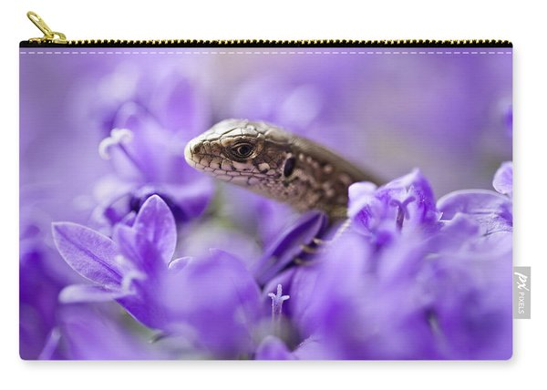 Carry-all Pouch featuring the photograph Small Lizard by Jaroslaw Blaminsky