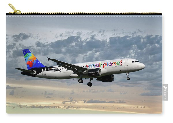 Small Planet Airlines Airbus A320-214 Carry-all Pouch