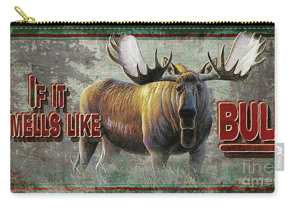 Smells Like Bull Sign Carry-all Pouch