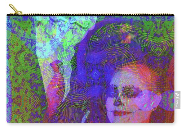 Carry-all Pouch featuring the digital art Smiles by Visual Artist Frank Bonilla