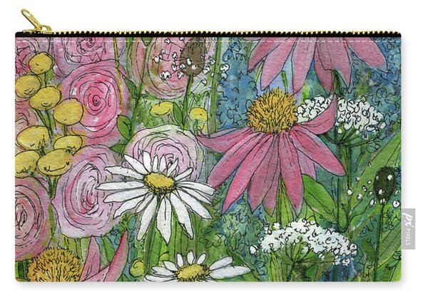 Smiling Flowers Carry-all Pouch