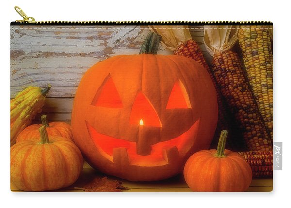 Smiling Jack O Latern Carry-all Pouch