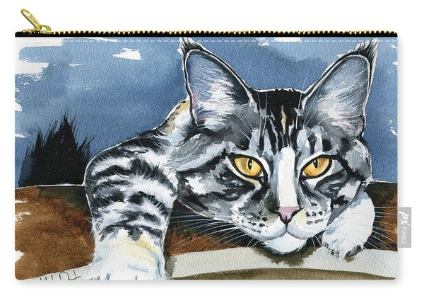 Smilla - Maine Coon Cat Painting Carry-all Pouch