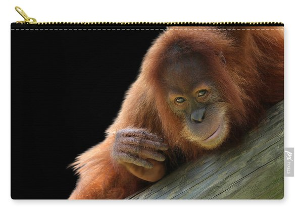 Cute Young Orangutan Carry-all Pouch