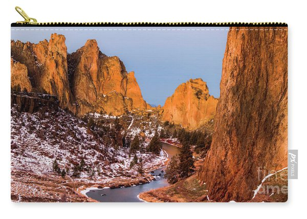 Smith Rock State Park In Morning Carry-all Pouch
