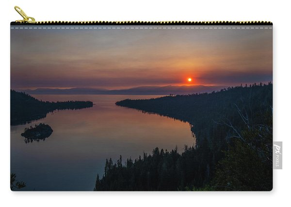 Smoke-diffused Sun At Emerald Bay Carry-all Pouch