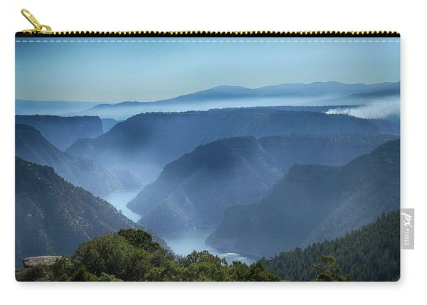 Smoke Over Flaming Gorge Carry-all Pouch