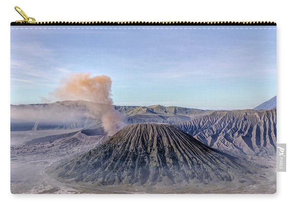 smoke over Mount Bromo - Java Carry-all Pouch
