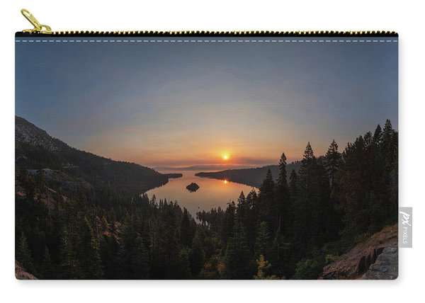 Smokey Sunrise At Emerald Bay Carry-all Pouch