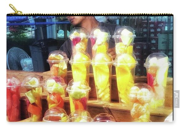 Carry-all Pouch featuring the photograph Smoothie Nirvana. Choose A Cup Of by Mr Photojimsf