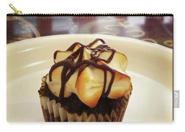 Carry-all Pouch featuring the photograph smore Miniature Cupcake N Coffee by Mr Photojimsf