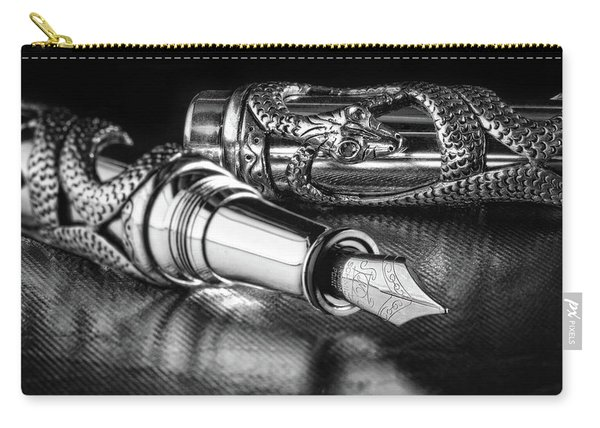 Snake Pen In Black And White Carry-all Pouch