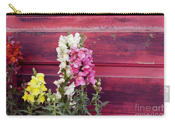 Snapdragons And Red Door Carry-all Pouch
