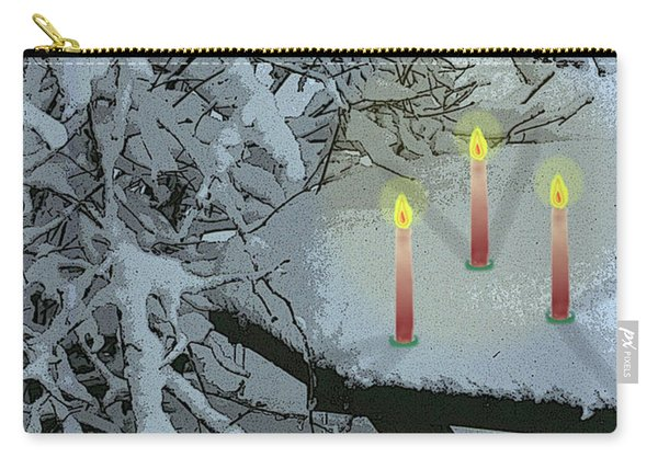 Snow And Candlelight Carry-all Pouch