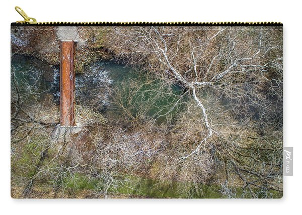 Snow Around The Creek Carry-all Pouch