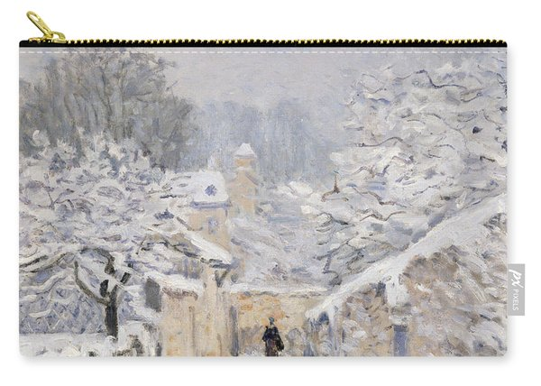 Snow At Louveciennes Carry-all Pouch