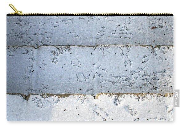 Snow Bird Tracks Carry-all Pouch