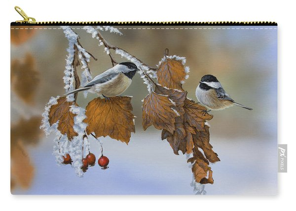 Snow Chickadees Carry-all Pouch