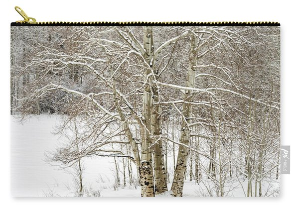 Snow-covered Carry-all Pouch