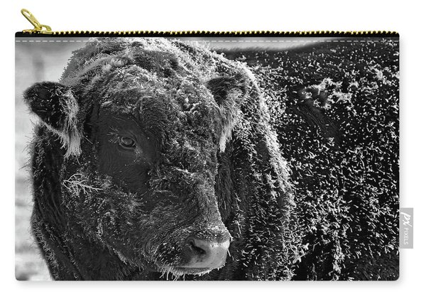 Snow Covered Ice Bull Carry-all Pouch