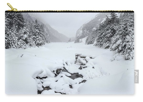 Snow Covered Lake Carry-all Pouch