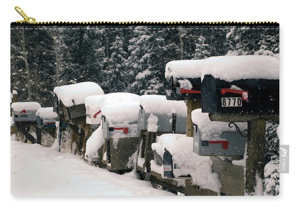 Snow Covered Mailboxes Carry-all Pouch