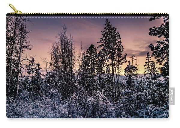 Snow Covered Pine Trees Carry-all Pouch