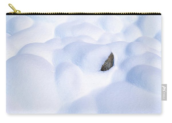 Snow-covered Rocks In Yosemite Carry-all Pouch