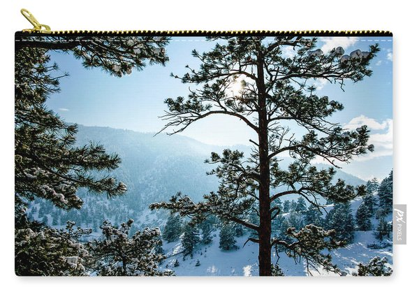 Snow-covered Trees Carry-all Pouch