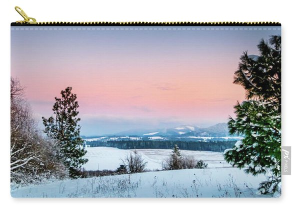 Snow Covered Valley Carry-all Pouch
