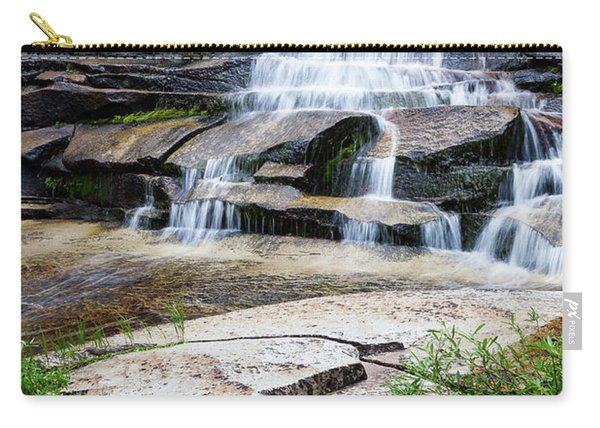 Carry-all Pouch featuring the photograph Snow Creek Cascade by Tim Newton